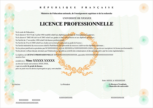 Faux licence faux diplome - Licence pro calais ...